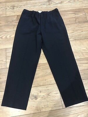 JUCCA Wool Mix Stretch Straight Leg Navy Blue Size Tg 46 Size 16 New