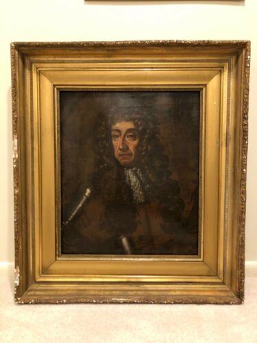 Huge Antique 19th Century Portrait Oil Painting Man (CERTAIN STATES ONLY) 9d