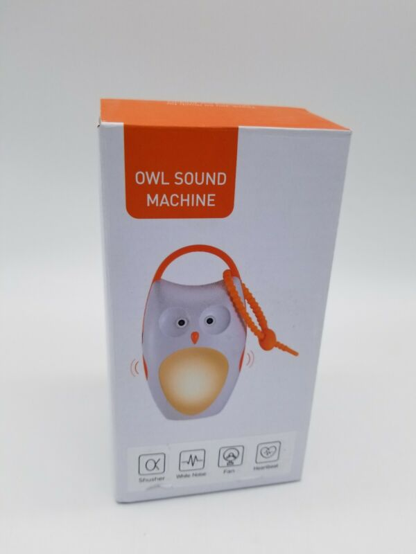 OWL SOUND MACHINE PORTABLE BABY SLEEP SOOTHER SHUSHER WHITE NOISE OPEN BOX