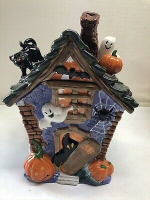Cookie Jar Mrs Fields 2009 Haunted Mansion Haunted House Ghost Spider Black Cat