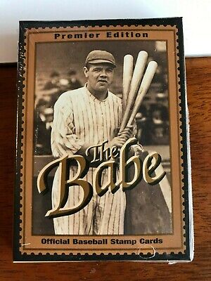 Babe Ruth Premier Edition The Babe Official Baseball Stamp Cards NEW 100th Annv. Babe Ruth Official Baseball