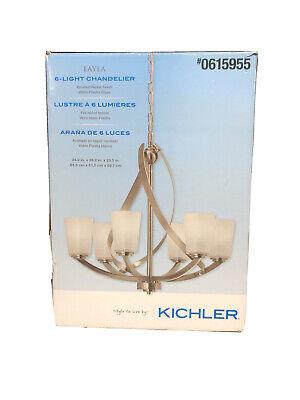 Kichler Layla Chandelier in Brushed Nickel Single Tier 6 Light. NIB