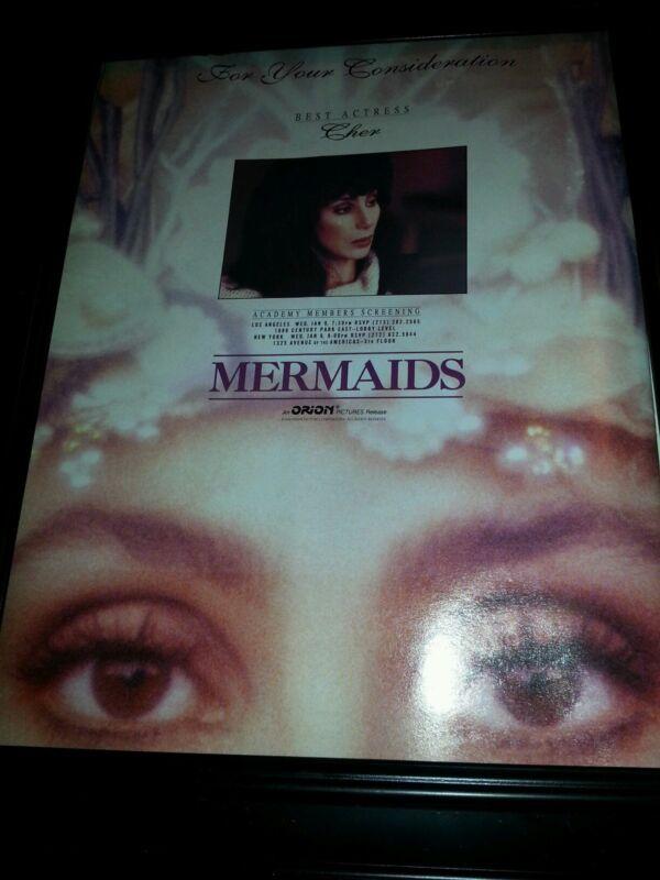 Cher Mermaids Rare Academy Awards Consideration Promo Poster Ad Framed!
