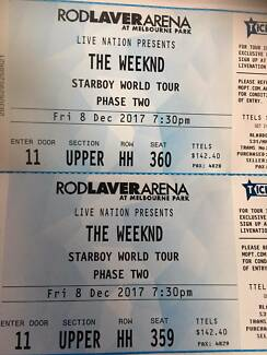 The Weeknd Tickets x2 Melbourne