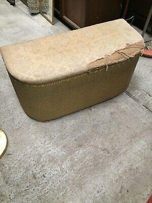 Vintage Wide Loom Storage Blanket Box Lloyd Double Seat Stool  13/10/J