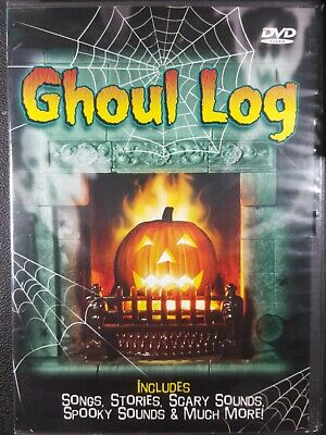 GHOUL LOG: VIRTUAL HALLOWEEN JACK-O-LANTERN w/SCARY MUSIC, SCENES & SOUNDS! RARE