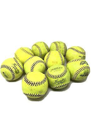 Dudley Leather softballs, WT 12 Y FP, 10 each SOFTBALLS, used