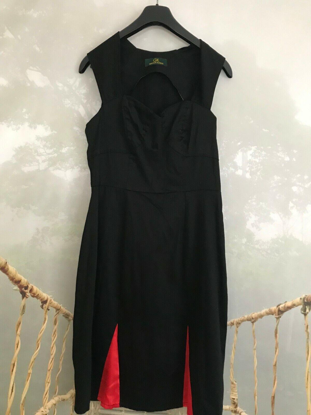 Klassisches Kleid Etuikleid GK Grace Karin Gr.38, sehr elegant schwarz