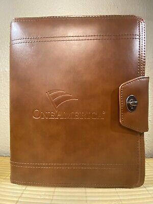 Cutter Buck Legacy Collection Brown Leather Portfolio Organizer Ipad Holder