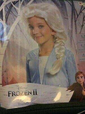 New Disney Princess Frozen 2 Elsa Child-Size Wig Braid Costume Dress Up