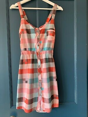 O'Neill Check Red Check Backless Surfer Dress Size XS
