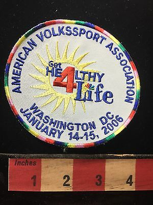 2006 Volkksport Walking Hiking Patch WASHINGTON DC USA CAPITAL CITY C71K