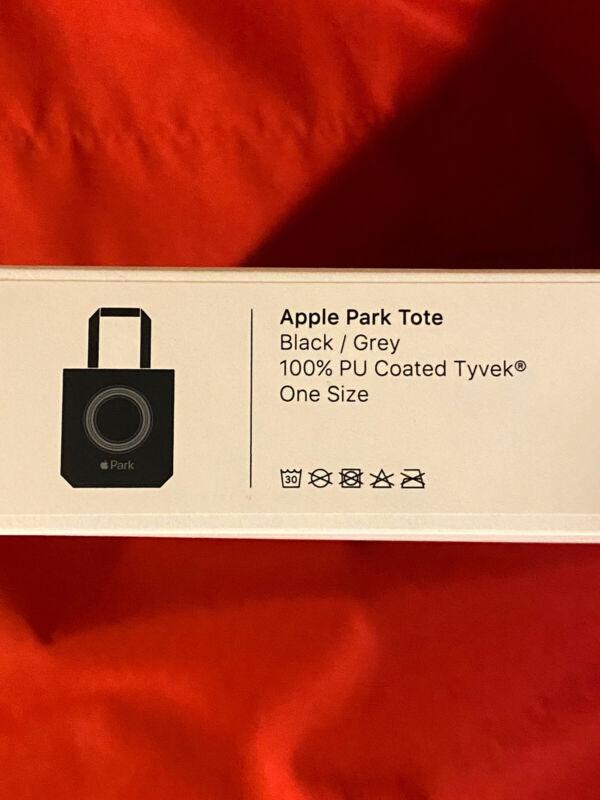 HTF! RARE NEW BOXED! APPLE PARK BLACK TOTE w/ GRAY LOGO PU COATED TYVEK BAG