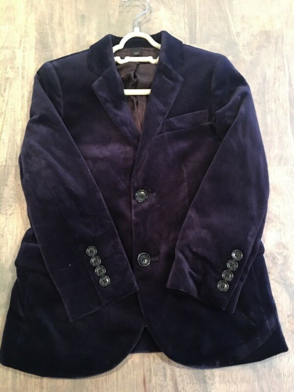 crewcuts velvet blazer size 6