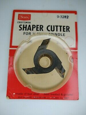 Sears Craftsman 9-3282 Shaper Cutter For 12-in Spindle Usa
