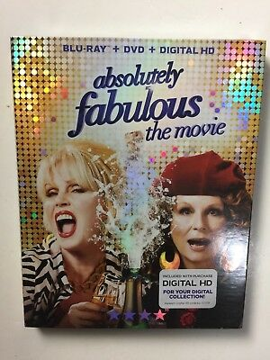 Absolutely Fabulous The Movie (Blu-ray/DVD, Digital HD, 2016) NEW w/slipcover