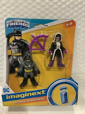 FISHER PRICE IMAGINEXT DC SUPER FRIENDS BATMAN AND THE HUNTRESS FIGURES HTF