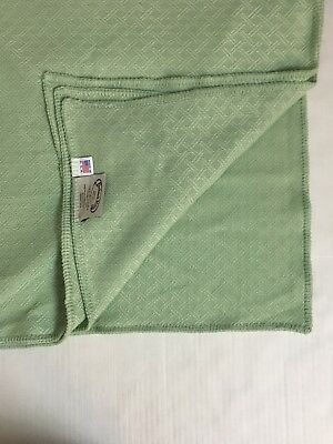 - Faribault Mills Mint Green Throw Blanket Organic Ingeo Fiber 50 x 74