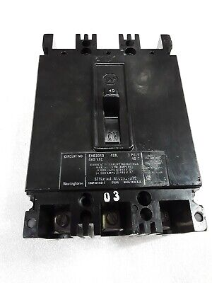"EHB3030 Westinghouse Circuit Breaker 3 Pole 30 Amp 480V /""2 YEAR WARRANTY/"""