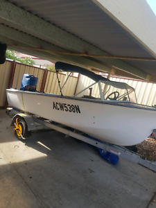 Boat and trailer 60hp