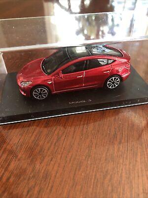 Genuine Tesla Model 3 Diecast 1/43 Reservation Gift Rare Multicoat Red