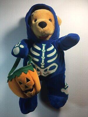 1990 Movie Halloween Costume (Disney  Winnie The Pooh Plush Stuffed Bear in Halloween Skeleton Costume)