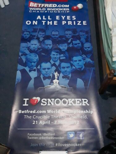 Betfred World Snooker Poster (2012) All Eyes on the Prize. Ultra Rare/Deleted.