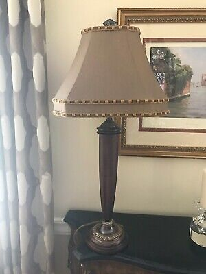 "Cooper Metal Table Lamp (Frederick Cooper Table Lamp- Metal-Wood-32.5""high-3 Way Switch-beautiful! )"