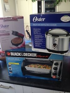 Slow cooker, waffle maker, toaster oven