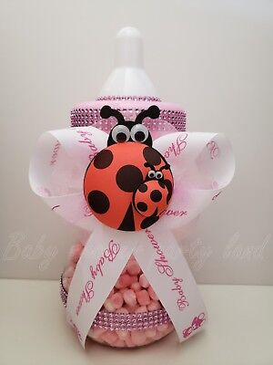 Ladybug Centerpiece Bottle Baby Shower It's a Girl  Piggy Bank Table Decorations - Ladybug Centerpieces