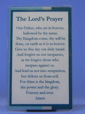 SOBRIETY BOOK MARK - SMALL - THE LORD'S PRAYER- LAMINATED- RECOVERY