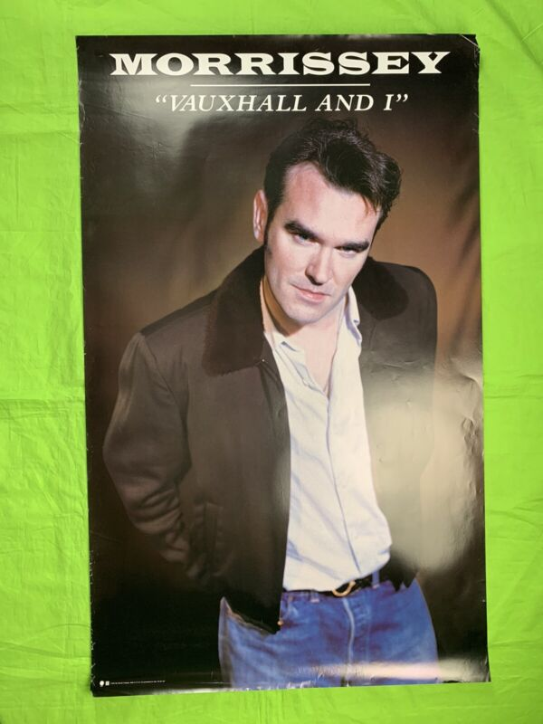"""Morrissey """"Vauxhall And I"""" Promo Poster 1994 Sire Records 39x24 Vintage Poster"""