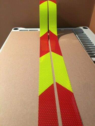 """2"""" Orafol V98 Conformable Chevron Fluorescent Lime Red Reflective Safety Tape"""