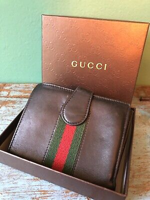Genuine GUCCI Black Leather Wallet In Box Pre Owned