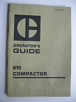 Caterpillar 815 Compactor Operators Guide