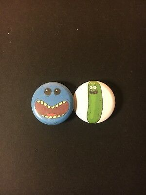 Rick And Morty 1 Inch Button Pin Set Pickle Rick Meeseeks