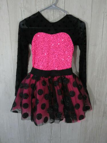 Weissman Polka Dot Pink/Black/ Costume LC Gorgeous Large Child Size