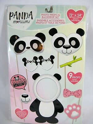 Panda Bear Party Scene Birthday, Rave, Backdrop 9 Photo Booth Props Jungle Theme](Themed Photo Booths)