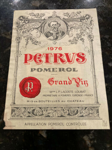 1976 Chateau Petrus Pomerol Wine Label