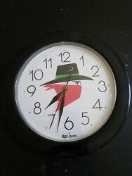 Top Quartz Clock Black Red Cowboy works Tested
