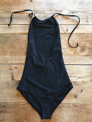ASOS BLACK SOLID HALTER ONE PIECE SWIM SUIT SEXY SWIMSUIT BATHING SUIT NEW