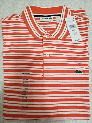 ***Brand New*** Authentic Lacoste striped polo shirt - Size 6
