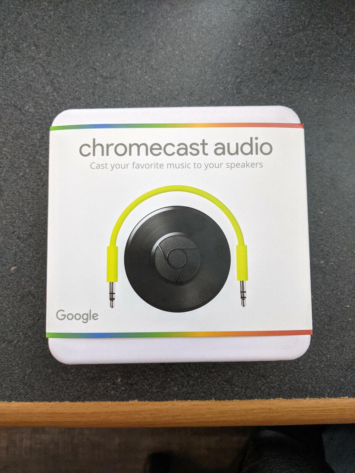 Google Chromecast Audio - Brand New In Factory Sealed Box - $120.00