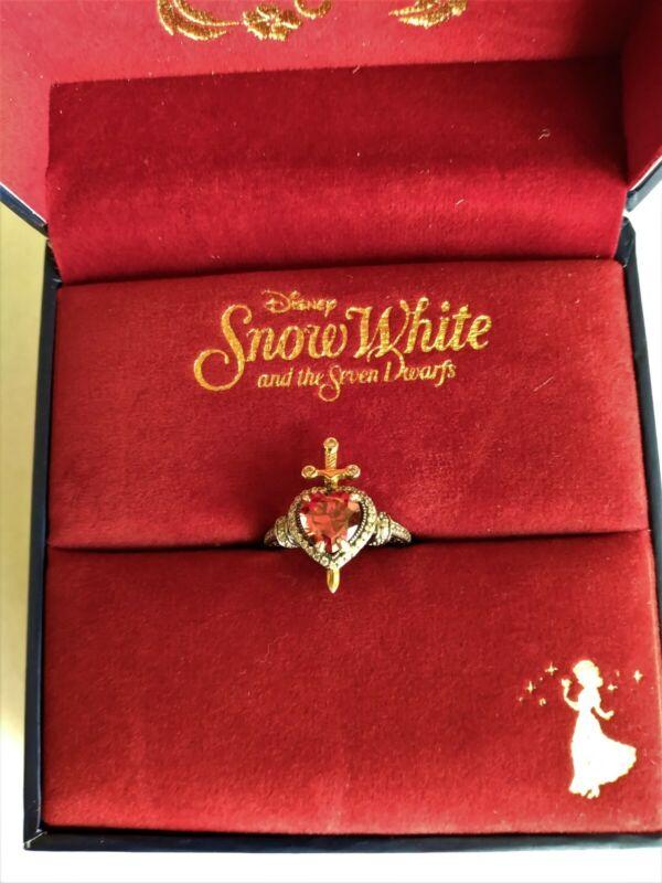 RockLove Snow White Dagger Heart Ring Size 6-Never Worn