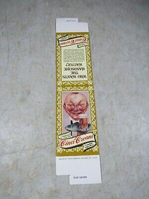 Vintage Cinci Cream Canadian Lager Beer Table Tent Card Advertising NOS Bar Pub