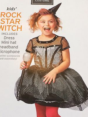Girl's Rockstar Witch Halloween Costume Size S 4/6X NWT  ()