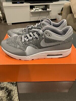 Nike Air Max 1 Ultra Flyknit Wolf Grey Reflective US10.5 DS