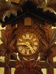 Schwarzwalder Uhren Cuckoo Clock Vintage Black Forest Schneider, excellent