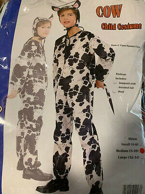 Cow Child Costume Size Medium 8-10 school theater play show / Halloween](Childs Cow Costume)