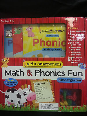 Skill Sharpeners Math and Phonics Fun: Kindergarten Educational - Kindergarten Phonics Activities